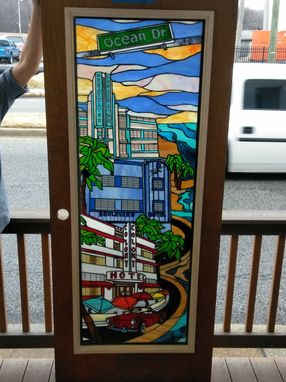 Custom Made Miami- Stained Glass Panel(P-156)