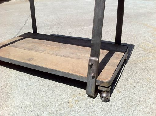 Custom Made Rustic Industrial Tv Cart