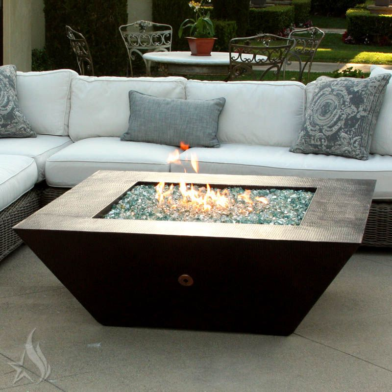 Custom Made 50 Inch Plaza Moreno Hand Hammered Copper Fire Pit