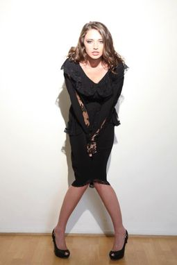 "Custom Made Black Lace And Ruffles Dress ""Pretty Woman"""