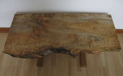Custom Made Spalted/Curly Oregon Maple Coffee Table