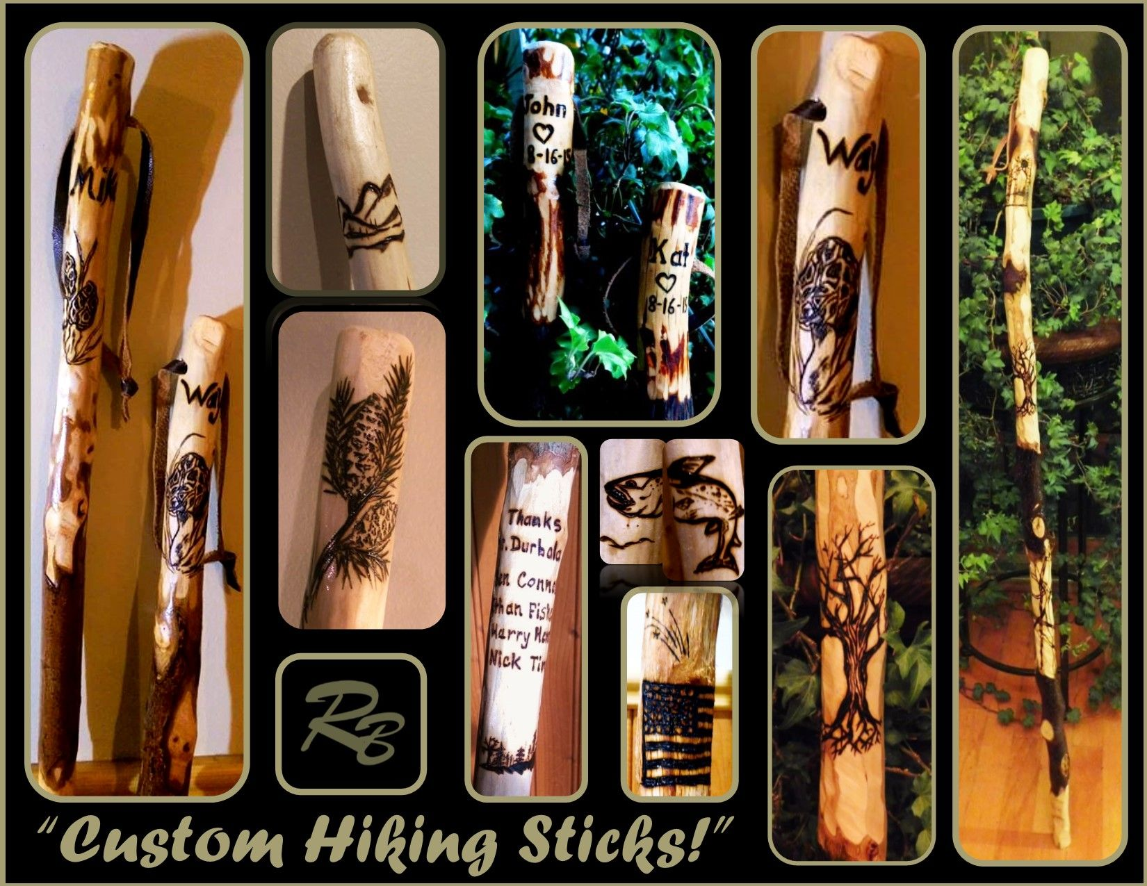 Buy a custom made hiking stickwood anniversary gift for him buy a custom made hiking stickwood anniversary gift for himanniversary gifthusband gifthiker giftretirement gift made to order from artistic biocorpaavc Image collections