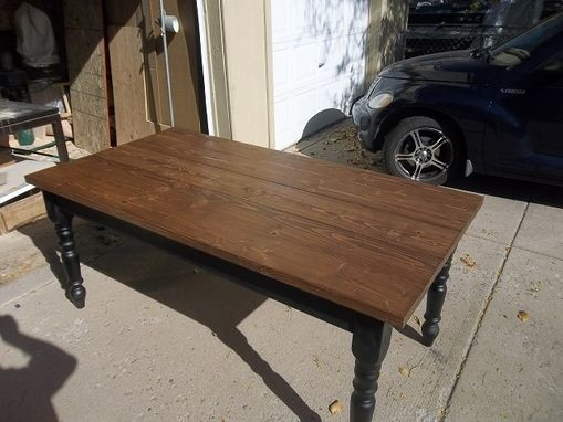 Custom Made 6' X 3' Pine Farm Table.