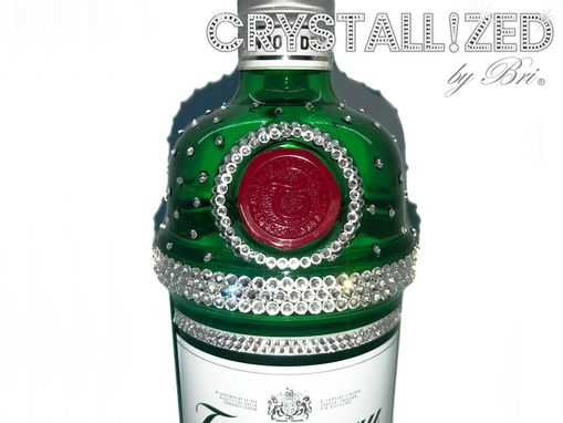 Custom Made Custom Crystallized Liquor Bottle Gin Wine Scotch Vodka Alcohol Bling Swarovski Crystals Bedazzled