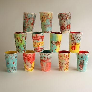 Custom Made Assorted Ceramic Wedding Tumblers