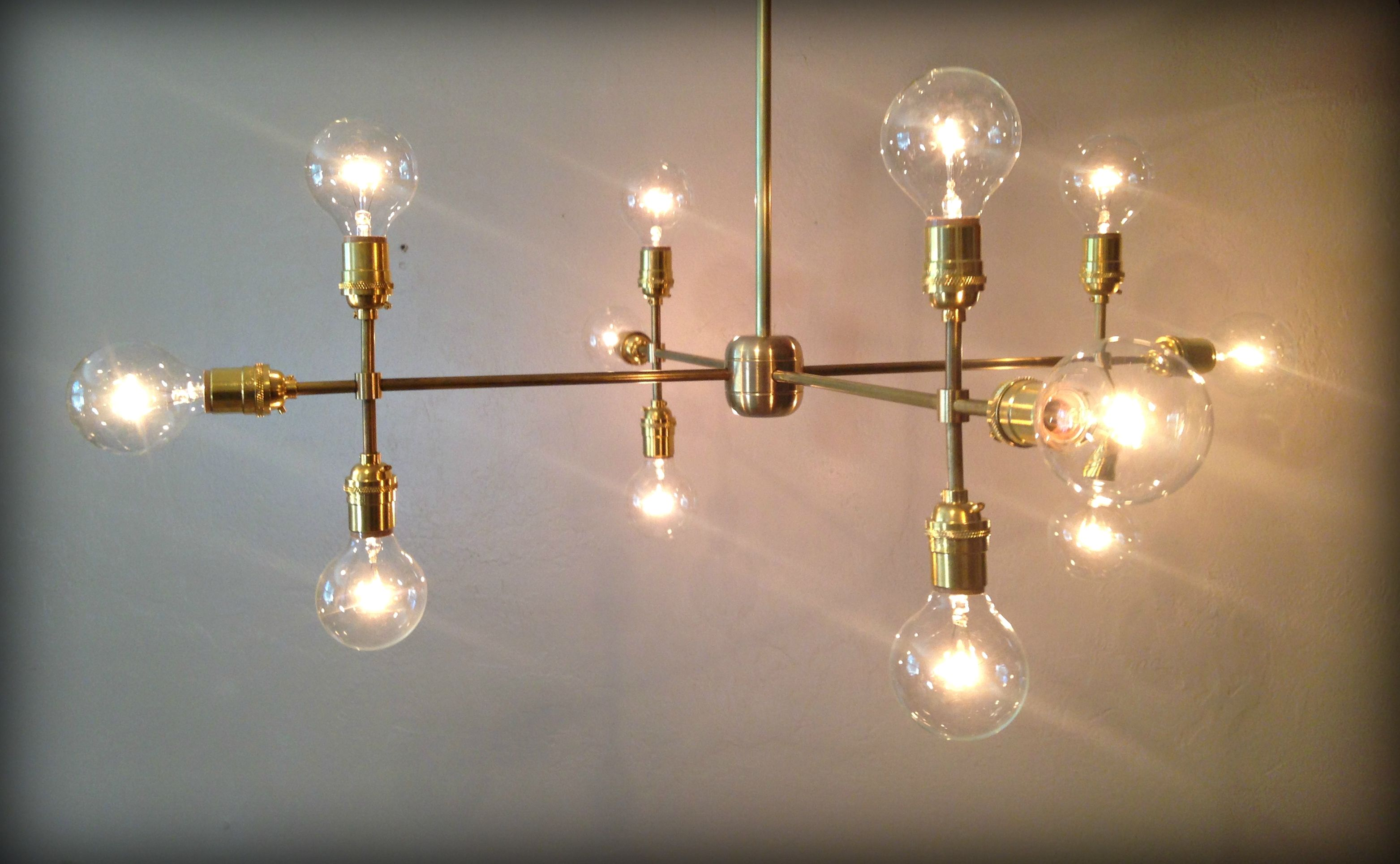 Handmade Modern Contemporary Light Sculpture - Multiple Light Edison ...