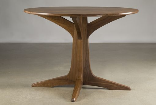 Custom Made Round Walnut Pedestal Table