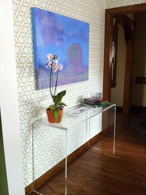 Custom Made The Waterfall Console Table - Desk Lucite / Acrylic