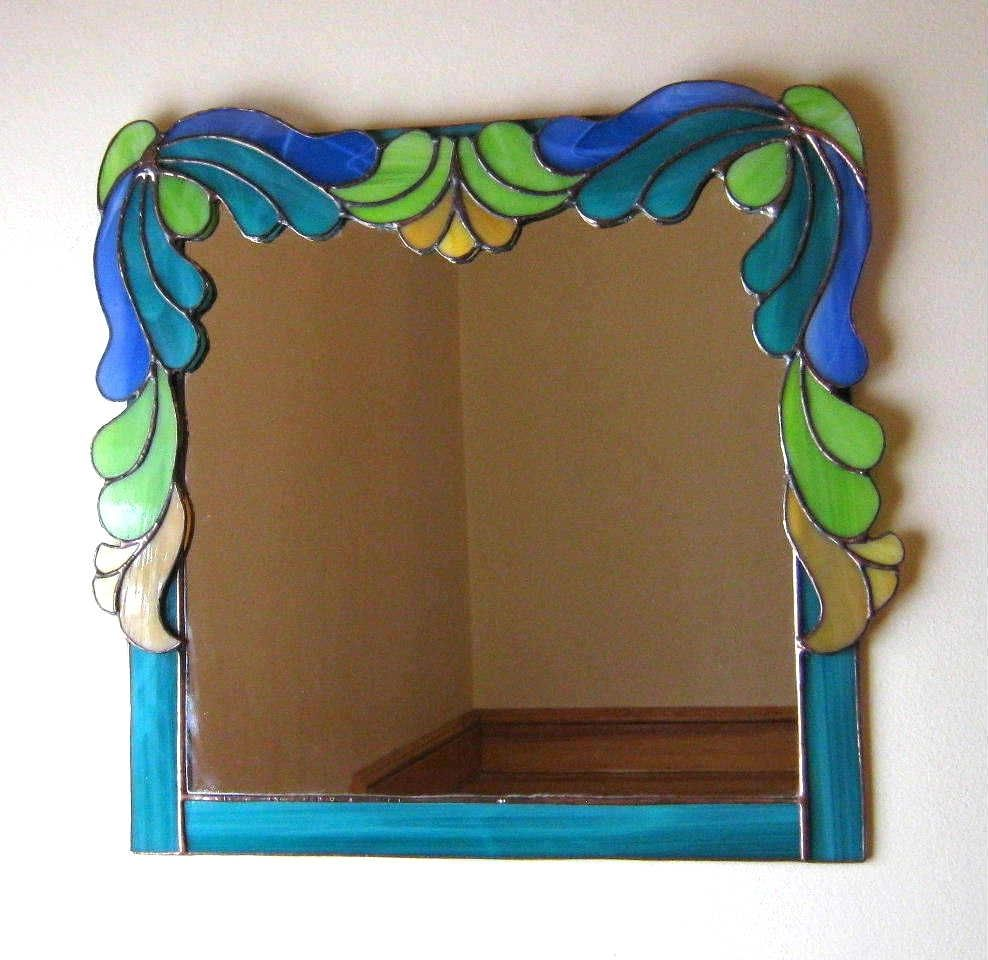 Sheffield Home Beveled Glass Mirror Home Design Ideas: Buy A Hand Crafted Art Deco Stained Glass Mirror, Made To