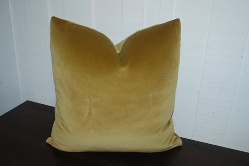 Custom Made Custom 16x16 Or 18x18 Chartreuse Velvet Pillow Cover