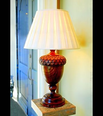 Custom Made Acorn Table Lamp