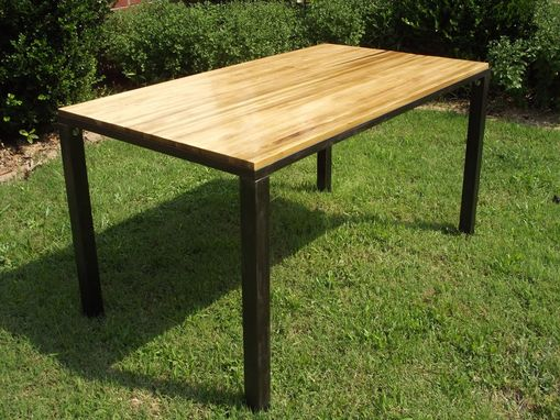 Custom Made Custom Poplar Topped Minimalist Table