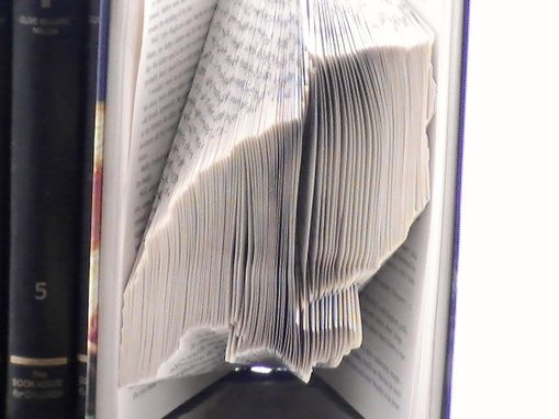 Custom Made Book Origami -- Owl Folded Book Art -- Custom Made Owl Book Origami