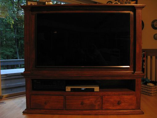 Custom Made Wood Tv Console For Flat Screen Tv
