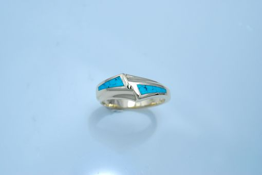 Custom Made 14kt Yellow Gold And Turquoise Custom Designed Ring