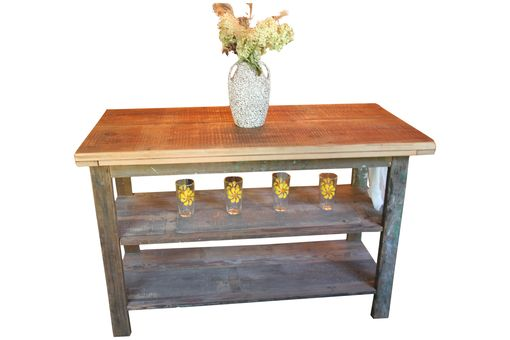 Custom Made Kitchen Island - Created From A Vintage Wooden Ladder