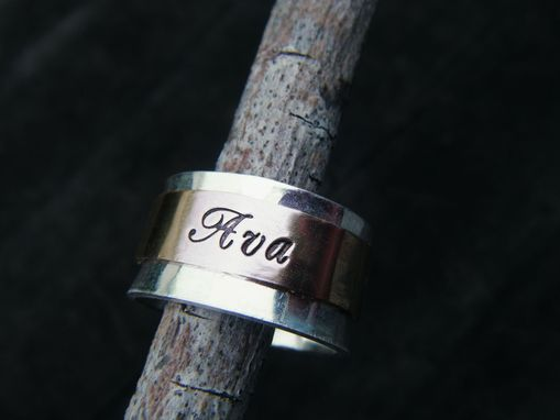 Custom Made Spinner Ring In 14k Gold And Sterling Silver