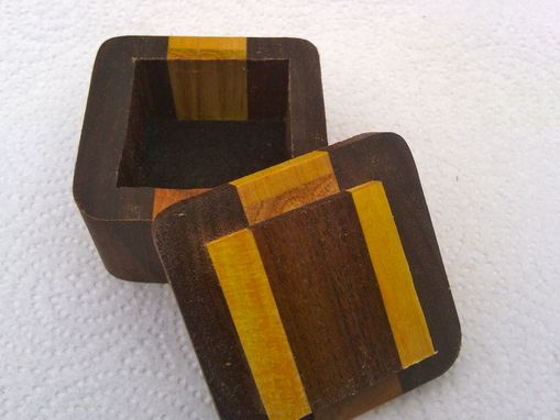 Custom Made Solid Wooden Earring Box