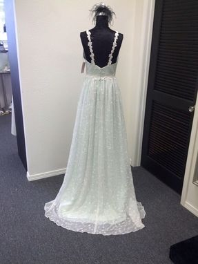 Custom Made Mint Green Silk Wedding Dress