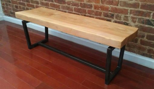 Custom Made Solid Maple Slab Bench