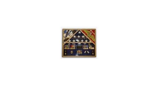 Custom Made Flag Shadow Case, 3 Flag Military Shadow Box