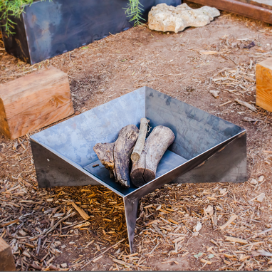Custom Made Fin Fire Pit
