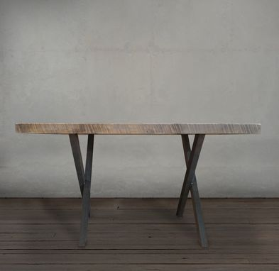Custom Made Reclaimed Wood And Steel Dining Table