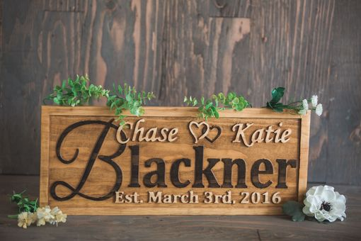 Custom Made Personalized Family Name Sign Wedding Gift Custom Carved Wooden Signs Anniversary Gift Wood Plaque