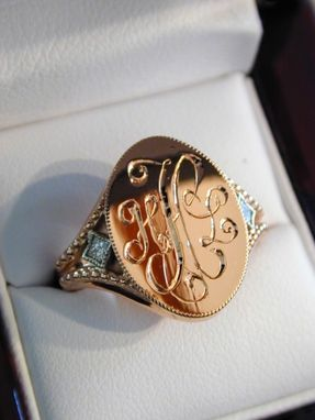 Custom Made Rose Gold Monogram