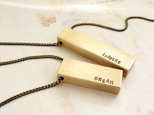 Custom Made Personalized Bar Necklace, Custom Message Necklace, I Love You Bar Necklace, Gift For Her