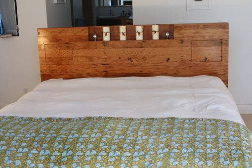 Custom Made Modern Bed From Used Lumber