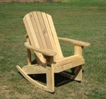 Custom Made Adirondack Rocking Chair With Stainless Fasteners
