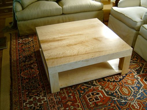 Custom Made Solid Bird'S Eye Maple Coffee Table