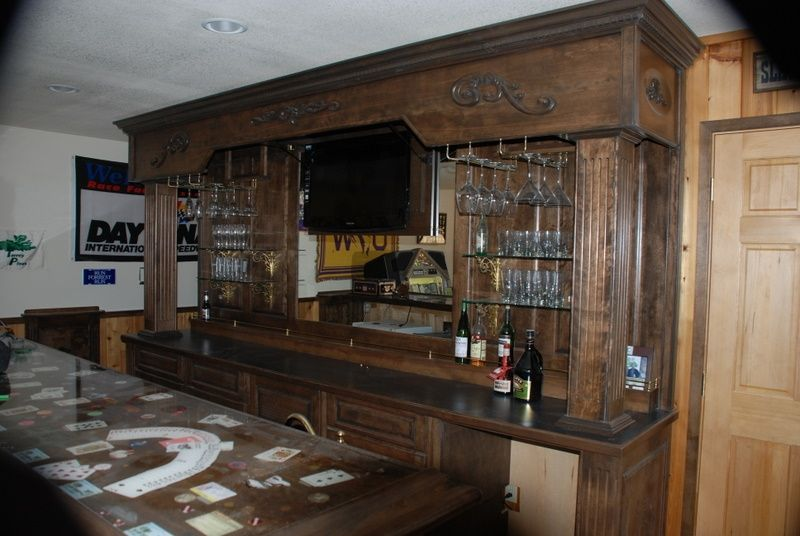 Hand Made Vintage Bar And Backbar by Daniel Cabinets | CustomMade.com