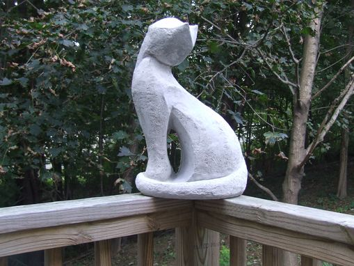 Custom Made Garden Sculpture - Modern Cat