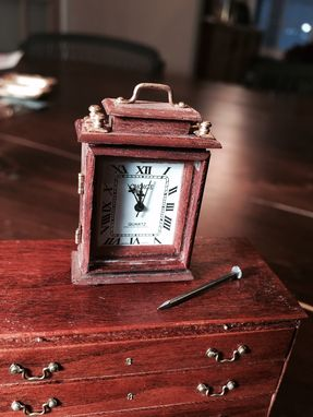 Custom Made Mantle Clock In Minature