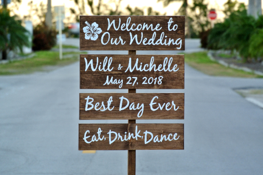 Personalised Wooden Direction Sign Post Handmade Wedding Venue Party Decoration