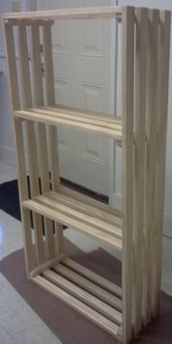 Custom Made Slatted Bookshelf