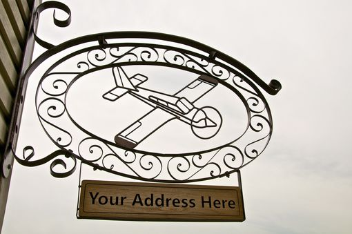 Custom Made Airplane Wrought Iron Sign - Piper