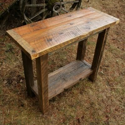 Reclaimed Barnwood Sofa Table