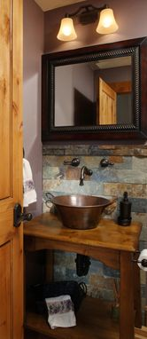 Custom Made Powder Room Vanity Cabinet