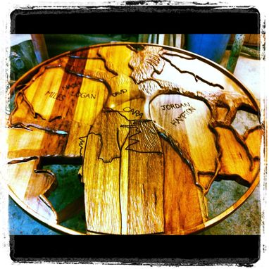 Custom Made Hand Carved Female Tree Table