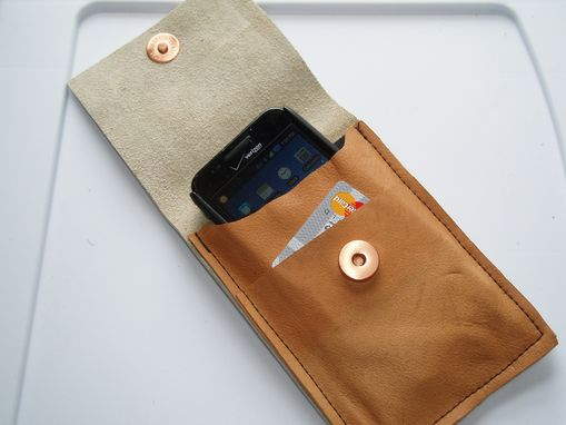 Custom Made Iphone Leather Clip Case