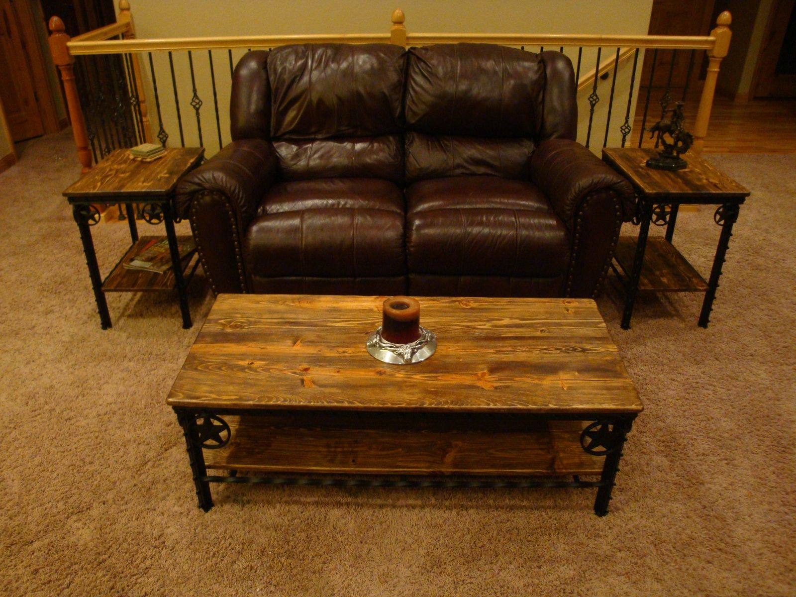 Handmade Western Coffee Table And End Tables by Willow Creek Decor
