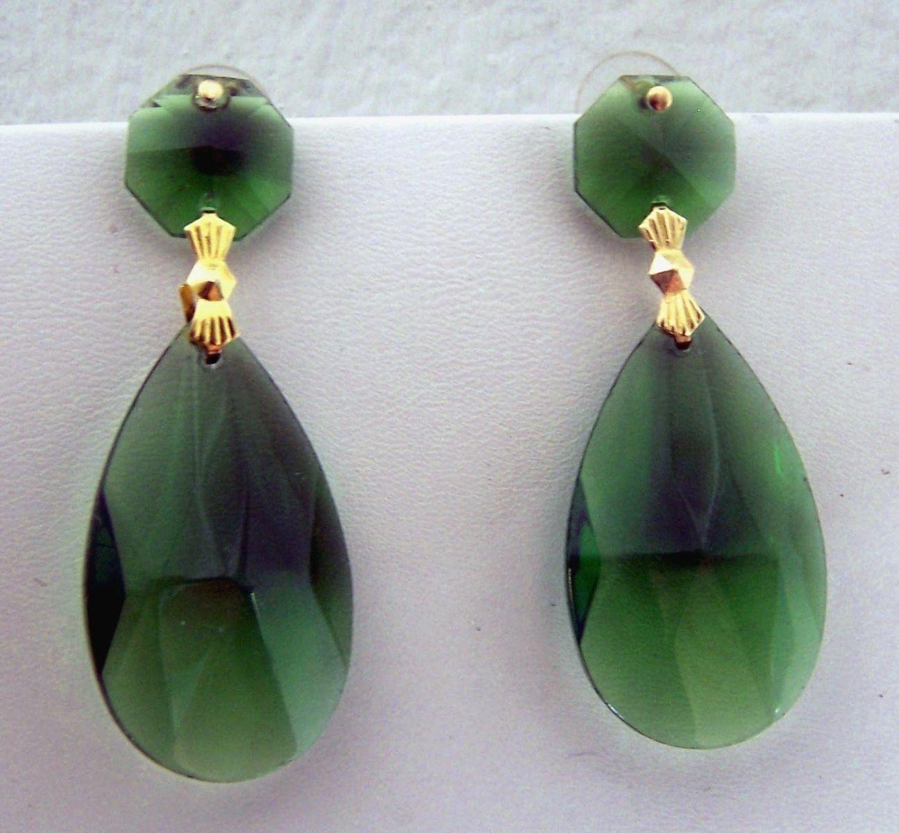 Custom Made Earrings Emerald Green Large To Order From Mandala Rain Custommade