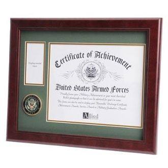Custom Made U.S. Army Medallion Certificate And Medal Frame