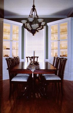 Custom Made Built-In Dining Room Hutches