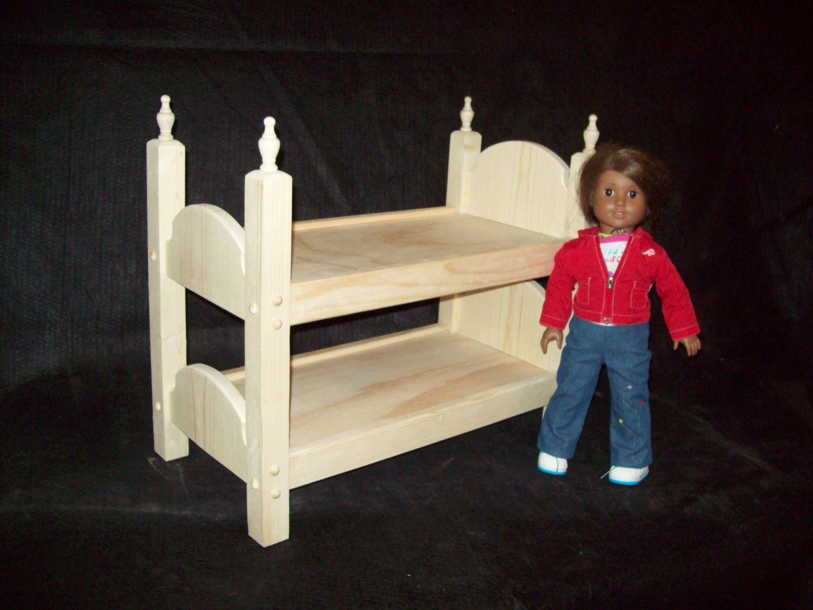 Hand Crafted 18 Inch Doll Bunk Bed By Pine Grove Woodshop