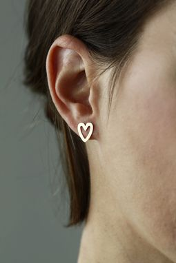Custom Made L'Amour Studs - Mini Heart Studs