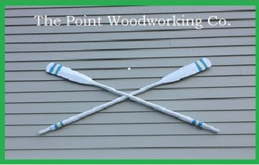 Custom Made Custom Painted Antique Oars